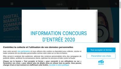 Site internet de Iseg Bordeaux