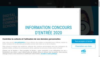 Site internet de Iseg Strasbourg