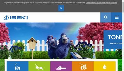 Site internet de Iseki France SAS