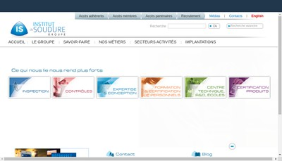 Site internet de Institut de Soudure Industrie