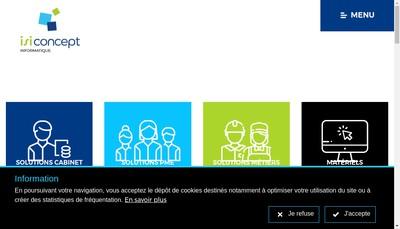 Site internet de Isiconcept Informatique
