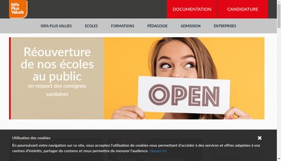 Site internet de Plus Values