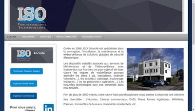 Site internet de Iso Securite Paris