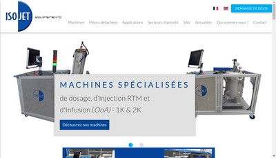 Site internet de Isojet Equipements