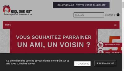 Site internet de Isol Sud Est Isolation des Combles