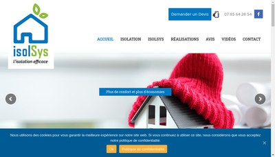 Site internet de Isol Sys