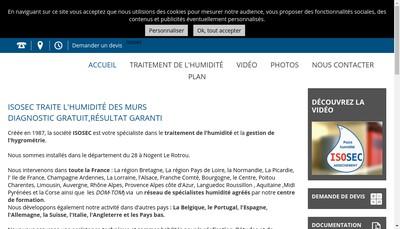 Site internet de Isosec