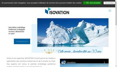 Site internet de Isovation
