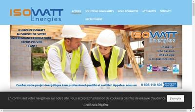 Site internet de Travaux Partner-Isorenovation-Securiwatt-Isosecure