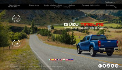 Site internet de Isuzu