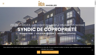 Site internet de Immobiliere Tradition Alsace