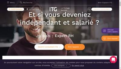 Site internet de Itg Formation SAS