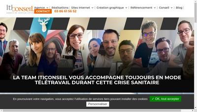 Site internet de Iti Communication - Iti Conseil - I
