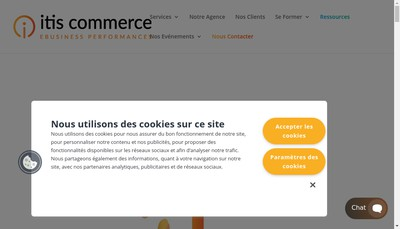 Site internet de ITIS Commerce