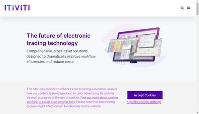 Site internet de Itiviti Holdings