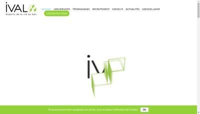 Site internet de Ival