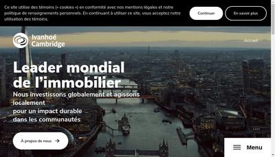 Site internet de Ivanhoe Cambridge Europe