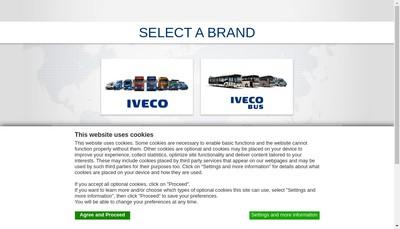 Site internet de Iveco Capital Lease