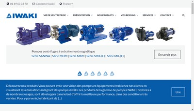 Site internet de Iwaki France