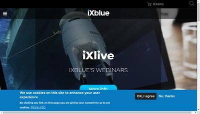 Site internet de Ixblue