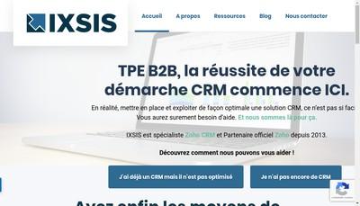 Site internet de Ixsis