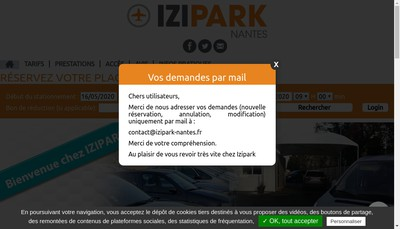 Site internet de Izipark Nantes