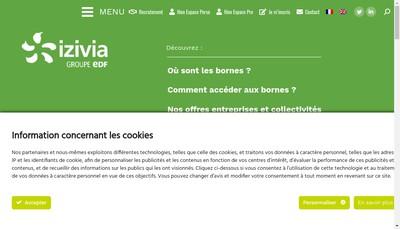 Site internet de Izivia