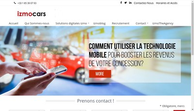 Site internet de Izmo France