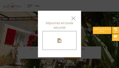 Site internet de La Jabotte