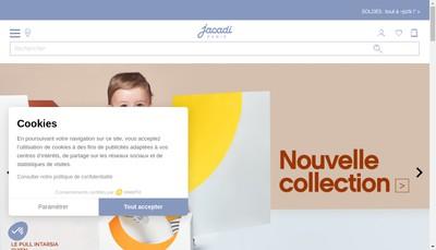 Site internet de Jacadi
