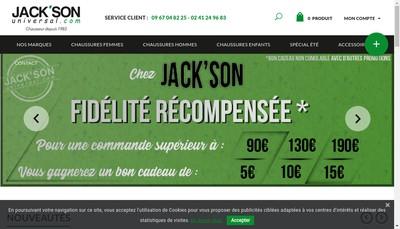 Site internet de Universal Jack'Son