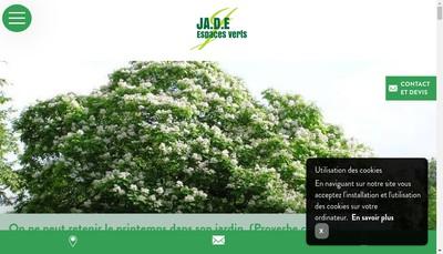 Site internet de Ja DE Espaces Verts