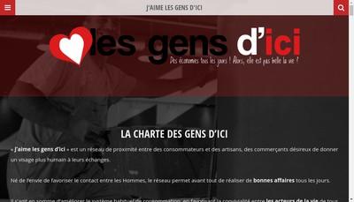 Site internet de J'Aime les Gens d'Ici