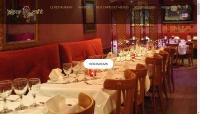 Site internet de Jaipur Cafe