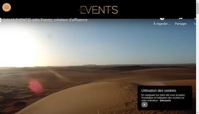 Site internet de Jalis Events