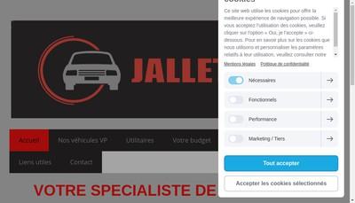 Site internet de Jallet Auto