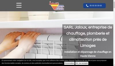 Site internet de SARL Jaloux