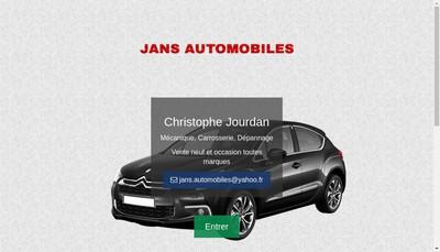 Site internet de Jans Automobiles