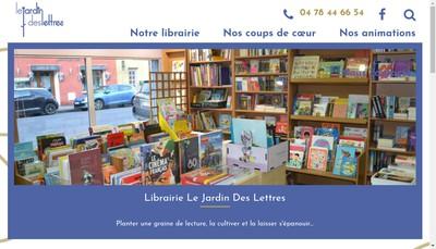 Site internet de Le Jardin des Lettres