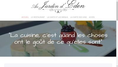 Site internet de Au Jardin d'Eden