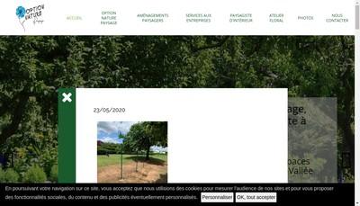 Site internet de Option Nature Paysage