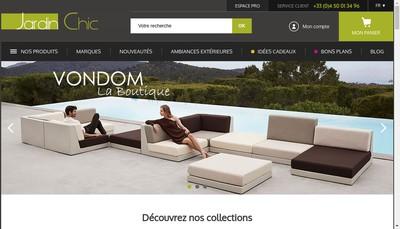 Site internet de Jardin Chic