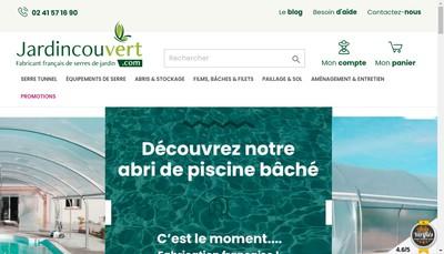 Site internet de Jardin Couvert