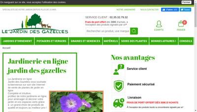 Site internet de Jardin Direct
