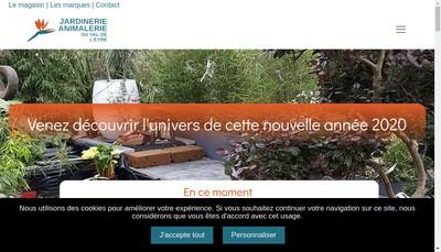 Site internet de Jardinerie Animalerie du Val de l'Eyre