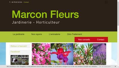 Site internet de Marcon Fleurs