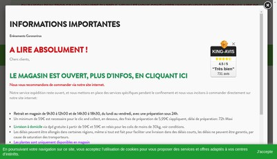 Site internet de Jardinerie Dupoirier