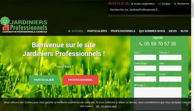 Site internet de Jardiniers Professionnels