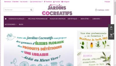 Site internet de Jardins Co Creatifs