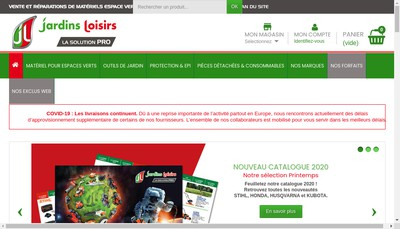 Site internet de Jardins Loisirs 60